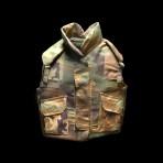 Military Camo Kevlar Flak Vest