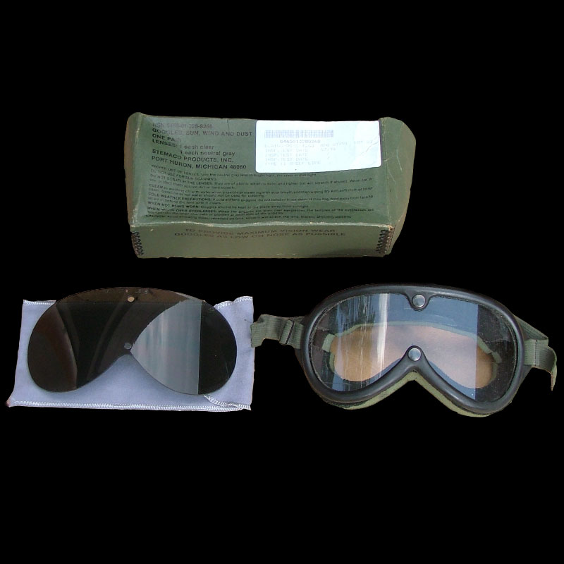 Goggles with tinted lens