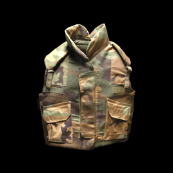 Military Camo Kevlar Flak Vest